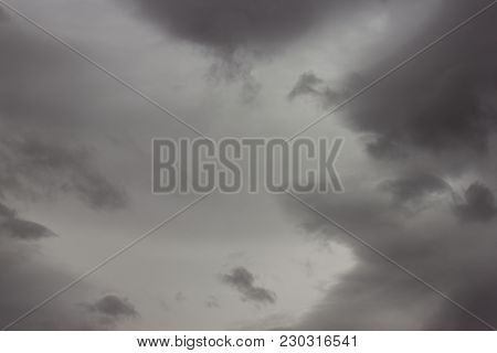 Dark Stormy Sky Clouds Background, Great Background For Your Project