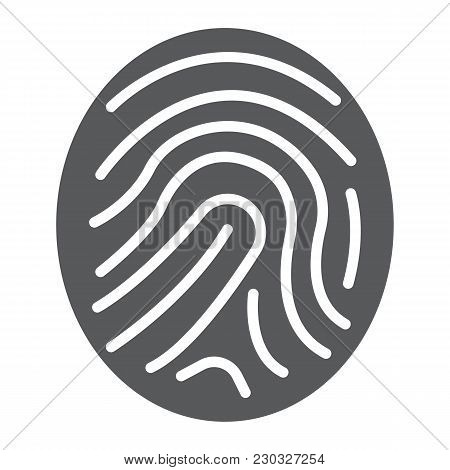 Finger Print Glyph Icon, Development And Business, Branding Sign Vector Graphics, A Solid Pattern On