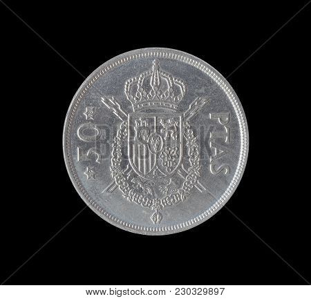 Vintage Fifty Pesetas Coin Made By Spain 1975