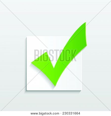 Illustration Of A Check Mark Isolated On A White Background.