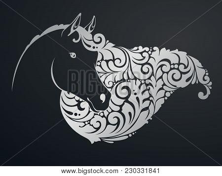 Ornamental Decorative Horse With A Beautiful Mane