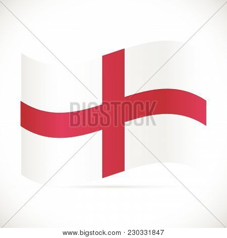 Illustration Of The Flag Of England Isolated On A White Background.