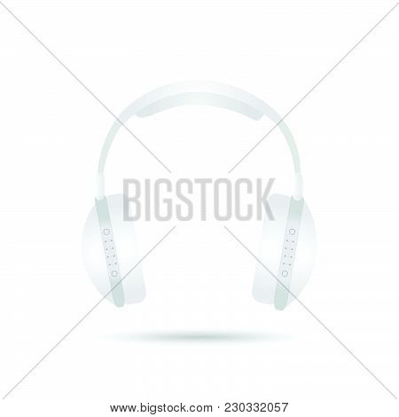Illustration Of Headphones Isolated On A White Background.