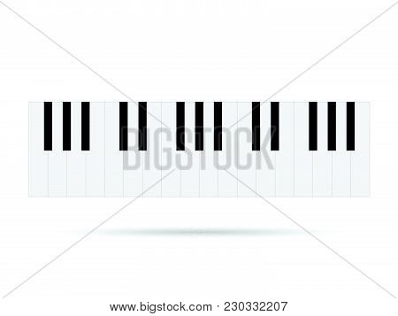 Illustration Of Piano Keys Isolated On A White Background.