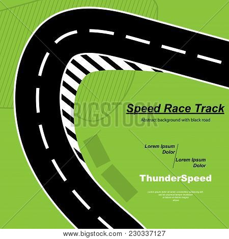 Black And White High Speed Way On Green Background With Sample Text