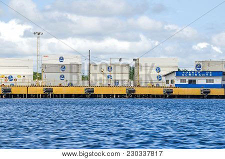 Almirante, Panama -  - 1 November, 2017: Shipping Containers Of Chiquita, A Swiss Producer And Distr