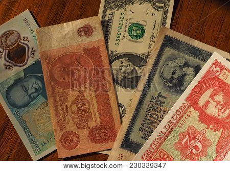 Portrait Of Famous Politicians On Banknotes