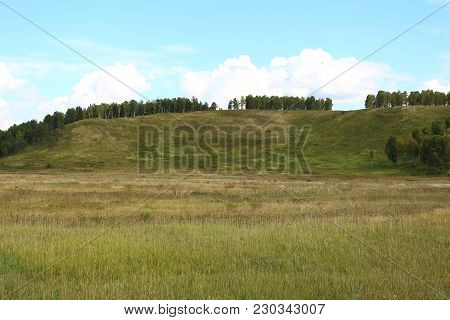 The Hill And Field In Siberia, Russia