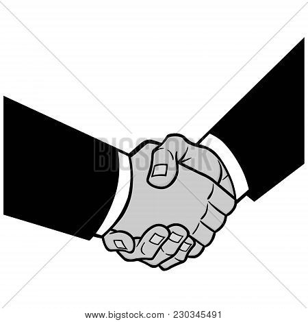Sealed Deal Illustration - A Vector Cartoon Illustration Of A Sealed Deal Concept.