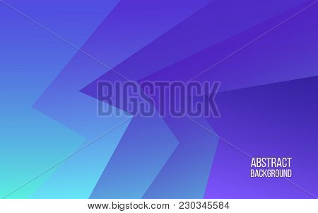 Purple Abstract Background. Blue And Purple Gradient Shapes. Modern Backdrop For Website, Brochure.