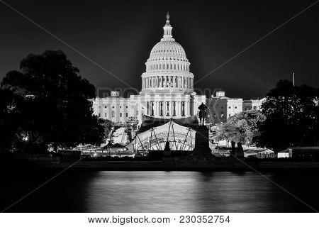 United States Capitol Building at nigth - Washington DC USA