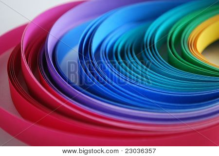Round Color strips rainbow