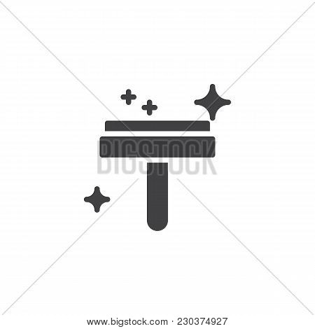 Glass Cleaner Vector Icon. Filled Flat Sign For Mobile Concept And Web Design. Window Cleaning Simpl