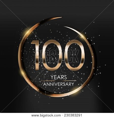 Template Logo 100 Years Anniversary Vector Illustration Eps10