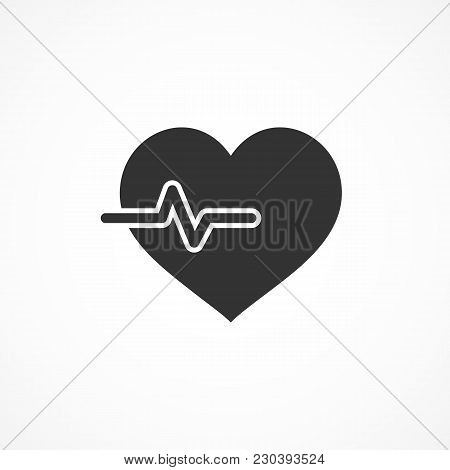 Vector Image Of A Cardiology Icon On A Gray Background.