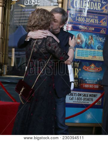 LOS ANGELES - MAR 8:   Marilou York Hamill, Mark Hamill at the Mark Hamill Star Ceremony on the Hollywood Walk of Fame on March 8, 2018 in Los Angeles, CA
