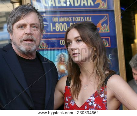 LOS ANGELES - MAR 8:  Mark Hamill, Billie Lourd at the Mark Hamill Star Ceremony on the Hollywood Walk of Fame on March 8, 2018 in Los Angeles, CA