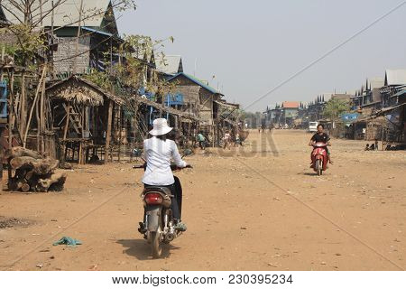 A Remote Village Outside Of Siem Reap Cambodia, 2010.  These Are Mainly Fishermen And Other People W
