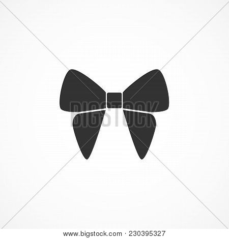 Vector Image Of Bow Icon On A Gray Background.