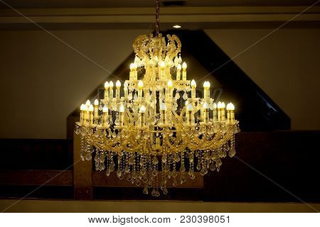 Home Interiors Chandelier On Ceiling (turn On The Light)
