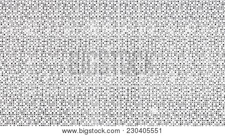 White Patterned Background With Circles And Dots Or Holes. Close Up Of Black Dots Background Over Wh