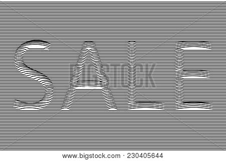 Sale Banner, Background Of Signage Sale, Outlines Of Letters, Signboard, Poster, Billboard