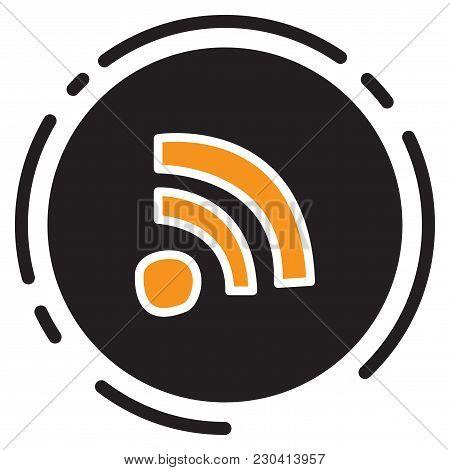 Unusual Look Wifi Signal. Vector Illustration. Internet, Signal, Symbol,