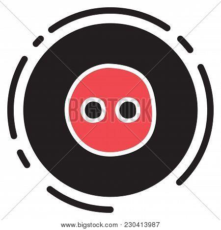 Unusual Look Web Icon Of Modern Social Network Flickr.