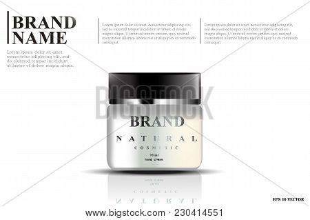 Cosmetic Template, Realistic Cosmetic Bottle, Container For Cream, Foam And Other Cosmetics