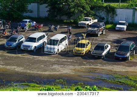 Penampang,sabah-may 20,2016:view Of Seized Cloned Vehicles By Malaysian Road Transport Department In