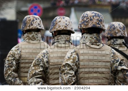 Nato Soldiers At The Military Parade