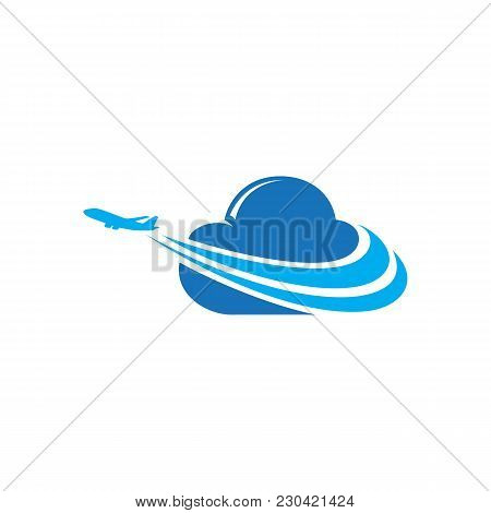 Travel Agency Logo Design Idea With Airplane In Negative Space. Amazing Destinations Creative Symbol