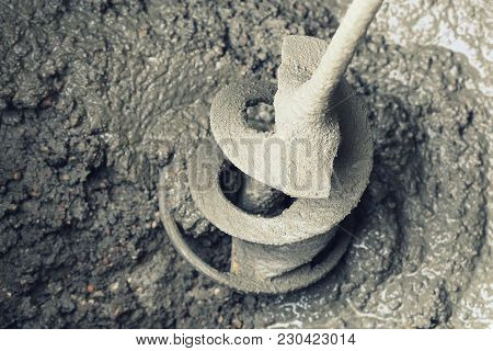 Concrete Mixing With Electrical Drill And Mixer .