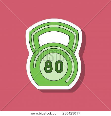 Paper Sticker On Stylish Background Weight Sport