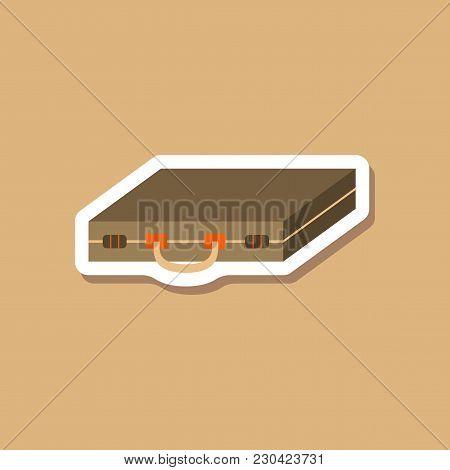 Paper Sticker On Stylish Background Business Case