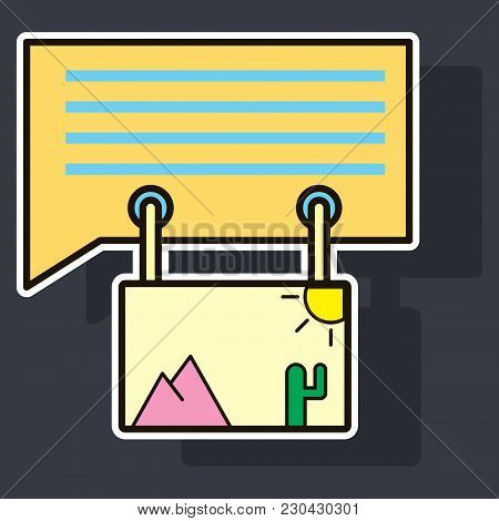 Sticker Email Attachment Icon Paper Document Clip Above Laptop Screen And Envelope