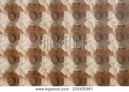 Empty Egg Carton, A Top View, The Texture Of Egg Boxes