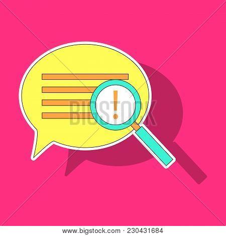 Sticker Instagram Comment Icon Vector, Message Sign, Post Symbol, Ui Elements, Conversation Shape, I