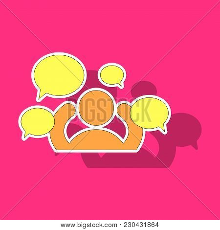 Sticker Social Network Icon, People Network Icon