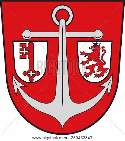 Coat Of Arms Of Rodenkirchen Is A Southern City District Of Cologne In Germany. Vector Illustration