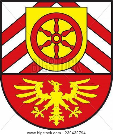 Coat Of Arms Of Guetersloh Is A District In The North-east Of North Rhine-westphalia, Germany. Vecto