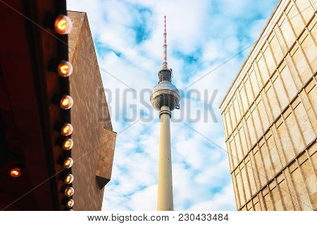 Berlin, Germany - December 10, 2017: Television Tower And Alexanderplatz In Berlin, Germany