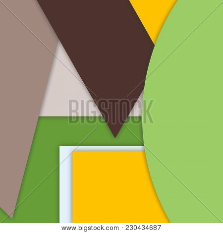 Illustration of a modern layered flat shapes background