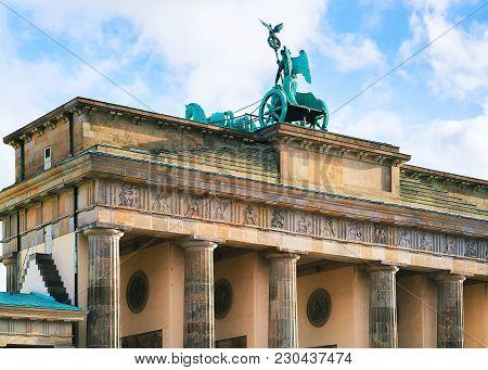 Brandenburg Gate In The Center Of Berlin, Germany