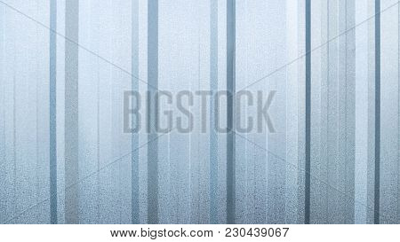 Silver Zinc Or Aluminum Wall Texture Background.