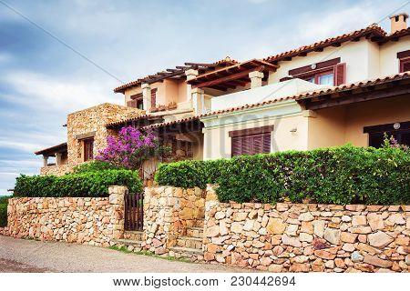 Houses At Capo Coda Cavallo, San Teodoro In Olbia-tempio Province, Sardinia, Italy