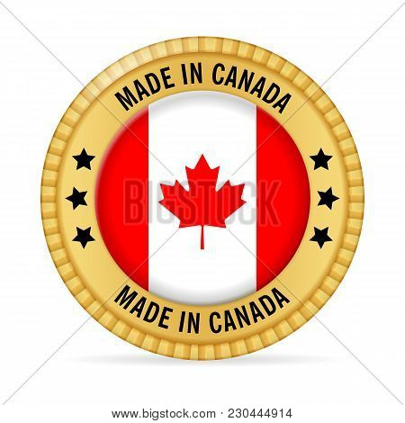 Icon Made In Canada On A White Background.