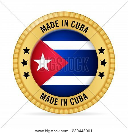Icon Made In Cuba On A White Background.