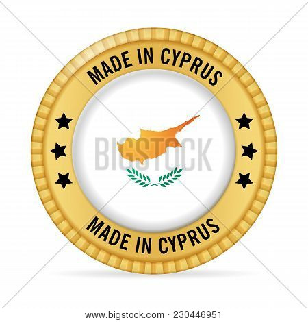 Icon Made In Cyprus On A White Background.