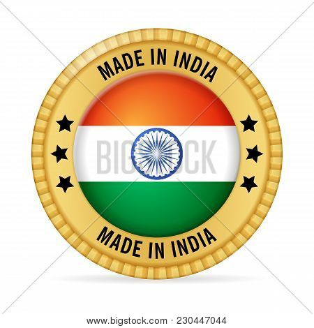 Icon Made In India On A White Background.